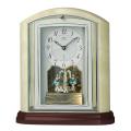 重厚な佇まいで悠然と時を刻む風格のオニキス・クロック! セイコー置時計エンブレム SEIKO電波置き時計 HW590M