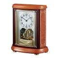 アールヌーボー調の木象嵌が華を添えます!セイコー置時計エンブレム  SEIKO電波置き時計 HW595B
