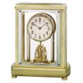 重厚な佇まいで悠然と時を刻む風格のメロディ付きオニキス・クロック! セイコー置時計エンブレム SEIKO電波置き時計 HW597M