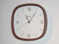 シンプルで見やすい!COGA古雅 掛け時計 ウッドスクエアBR