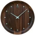 シンプルでスタイリッシュ セイコー掛け時計 SEIKO時計 KX622B ウォルナット 天然木