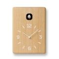 鳩時計 可愛い巣箱のクロックです!Lemnos レムノス カッコー掛け時計 cucu LC10-16NT