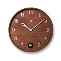 鳩時計 丸型のカッコークロックです!Lemnos レムノス カッコー掛け時計 PACE パーチェ  LC11-09BW