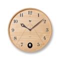 鳩時計 丸型のカッコークロックです!Lemnos レムノス カッコー掛け時計 PACE パーチェ  LC11-09NT