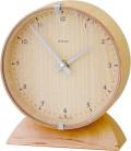 優しい木の質感が嬉しい! INHOUSEインハウス製置き時計 ビーチウッド/ ビーチウッドM18CBN