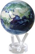 """回り続ける不思議な地球儀 4.5""""MOVA GLOBES  ムーバグローブ MG45STEC   φ11.4cm Satellite View w/Cloud"""