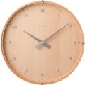 天然木が温かみのある掛け時計 INHOUSE(インハウス)壁掛け時計ラミネート NW19CB ビーチウッド/ビーチウッド30cm