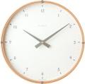 天然木が温かみのある掛け時計 INHOUSE(インハウス)掛け時計ラミネート NW19TB ビーチウッド/ホワイト30cm