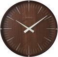 深みのあるウォルナットの木目が素敵! INHOUSE(インハウス)掛け時計ラミネート NW19WE  ウォルナット/ウォルナット30cm