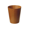 木目が綺麗なダストボックス(ゴミ箱) チーク木目wood No903 φ25.5×30