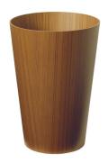 木目が綺麗なダストボックス(ゴミ箱) チーク木目wood No905 φ28.5×40