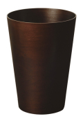 木の暖かみを感じるダストボックス(ゴミ箱) Bass wood 木目 DH905 φ28.5×40