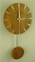 ウォルナットの木目が美しい 振り子掛け時計 INHOUSE(インハウス) PENDULUM  ウォルナット P5W Disc solid walnut