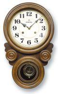 格調高く時の訪れを告げます! ボンボン報時付き だるま振り子時計 QL687A サンテル 日本製