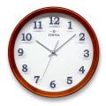 さんてる 天然木シンプル置き掛け兼用時計 QL695DBR サンテル 日本製