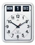 TWEMCOカレンダー電波時計 RC-12Aホワイト 掛け時計