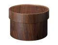 温かみのある木の質感がお洒落 ラウンドボックス  ウォルナット wood SB-01WN