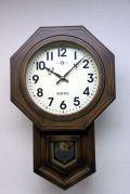 格調高く時の訪れを告げます! ボンボン報時付き だるま振り子時計 SQ02A サンテル 日本製