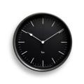 Lemnos レムノス 電波掛け時計 Riki STEEL CLOCK ブラック WR08-24BK φ204