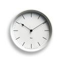 Lemnos レムノス 電波掛け時計 Riki STEEL CLOCKホワイト WR08-24WH φ204