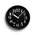 Lemnos レムノス 電波掛け時計 Riki STEEL CLOCKブラック WR08-25BK φ204