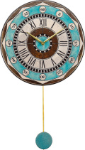 陶器の温かさとイタリアンアートに溢れる魅力! アントニオ・ザッカレラ Antonio Zaccarella 陶器 振り子時計ZC135-004