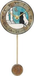 陶器の温かさとイタリアンアートに溢れる魅力! アントニオ・ザッカレラ陶器振り子時計ZC176-A04