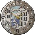 陶器の温かさとイタリアンアートに溢れる魅力! アントニオ・ザッカレラ陶器 置き掛け兼用時計 ZC904-004