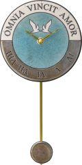 陶器の温かさとイタリアンアートに溢れる魅力! アントニオ・ザッカレラ Antonio Zaccarella 陶器振り子時計ZC916-004 掛け時計