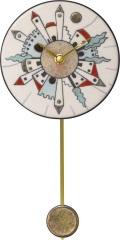 陶器の温かさとイタリアンアートに溢れる魅力! アントニオ・ザッカレラ Antonio Zaccarella 陶器振り子時計ZC917-003