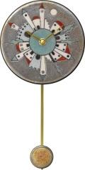 陶器の温かさとイタリアンアートに溢れる魅力! アントニオ・ザッカレラ Antonio Zaccarella 陶器振り子時計ZC918-180