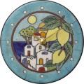 陶器の温かさとイタリアンアートに溢れる魅力! アントニオ・ザッカレラ Antonio Zaccarella 陶器 置き掛け兼用時計 ZC920-004