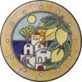 陶器の温かさとイタリアンアートに溢れる魅力! アントニオ・ザッカレラ Antonio Zaccarella 陶器 置き掛け兼用時計 ZC921-033