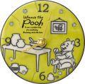 陶器の温かさとイタリアンアートに溢れる魅力!ディズニークロック くまのプーさん アントニオ・ザッカレラ陶器 置き掛け兼用時計 ZC942-MC33