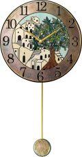 陶器の温かさとイタリアンアートに溢れる魅力! アントニオ・ザッカレラ Antonio Zaccarella ザッカレラZ945 陶器振り子時計 ZC945-005