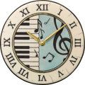陶器の温かさとイタリアンアートに溢れる魅力! アントニオ・ザッカレラ Antonio Zaccarella 陶器 置き掛け兼用時計ZC953-004