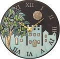 陶器の温かさとイタリアンアートに溢れる魅力! アントニオ・ザッカレラ Antonio Zaccarella ザッカレラZ955  陶器 置き掛け兼用時計 ZC955-004