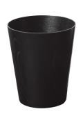 ブラックカラーのダストボックス(ゴミ箱) タモ木目wood 903B φ25.5×30