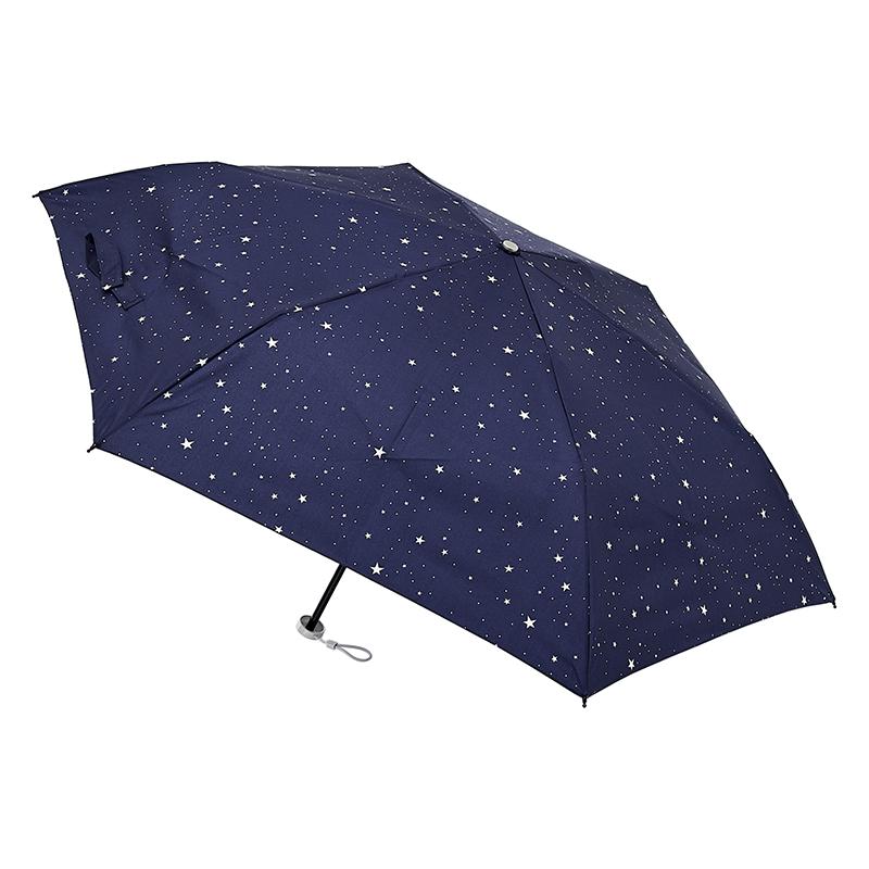 urawaza 星柄(ネイビーブルー)折りたたみ傘