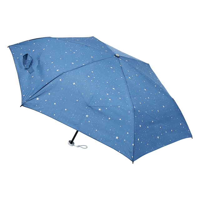 urawaza 星柄(ターコイズブルー) 折りたたみ傘