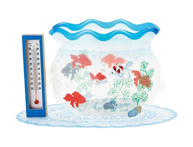 温度計付き金魚鉢