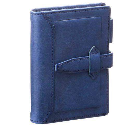 ダヴィンチ システム手帳 ロロマクラシック (ミニ5) 11mm ブルー