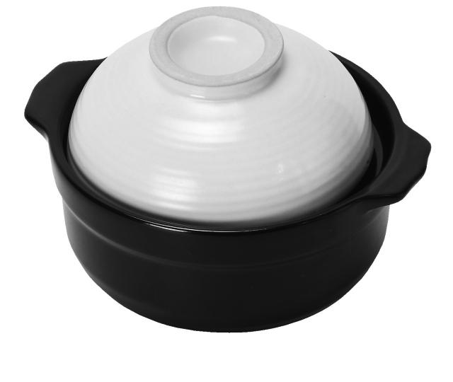 蓋が茶碗になる土鍋0.5合用 白