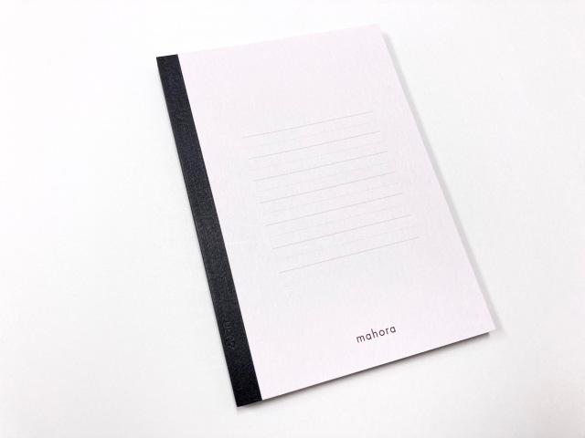 A6ノート50枚ラベンダー太・細交互横罫5mm(mahora)