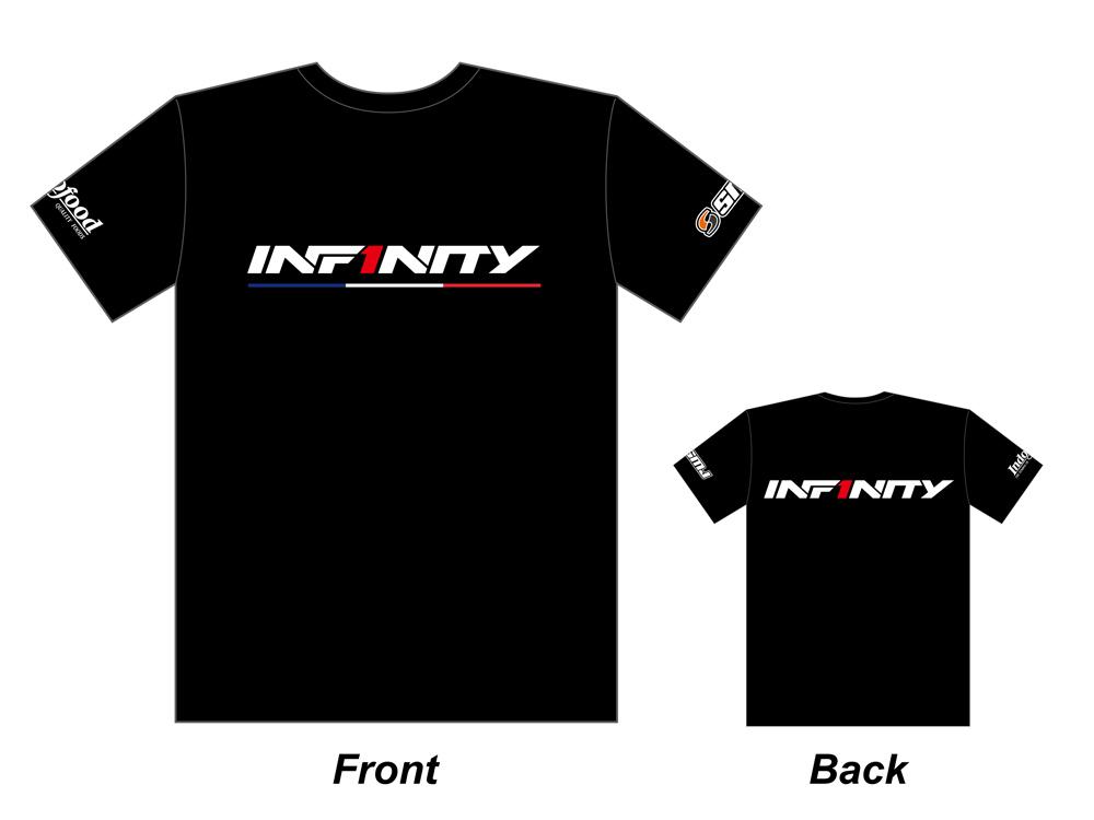 [A0053-XL] INFINITY 2017 Team T-shirt (BK/Tricolor) XL size