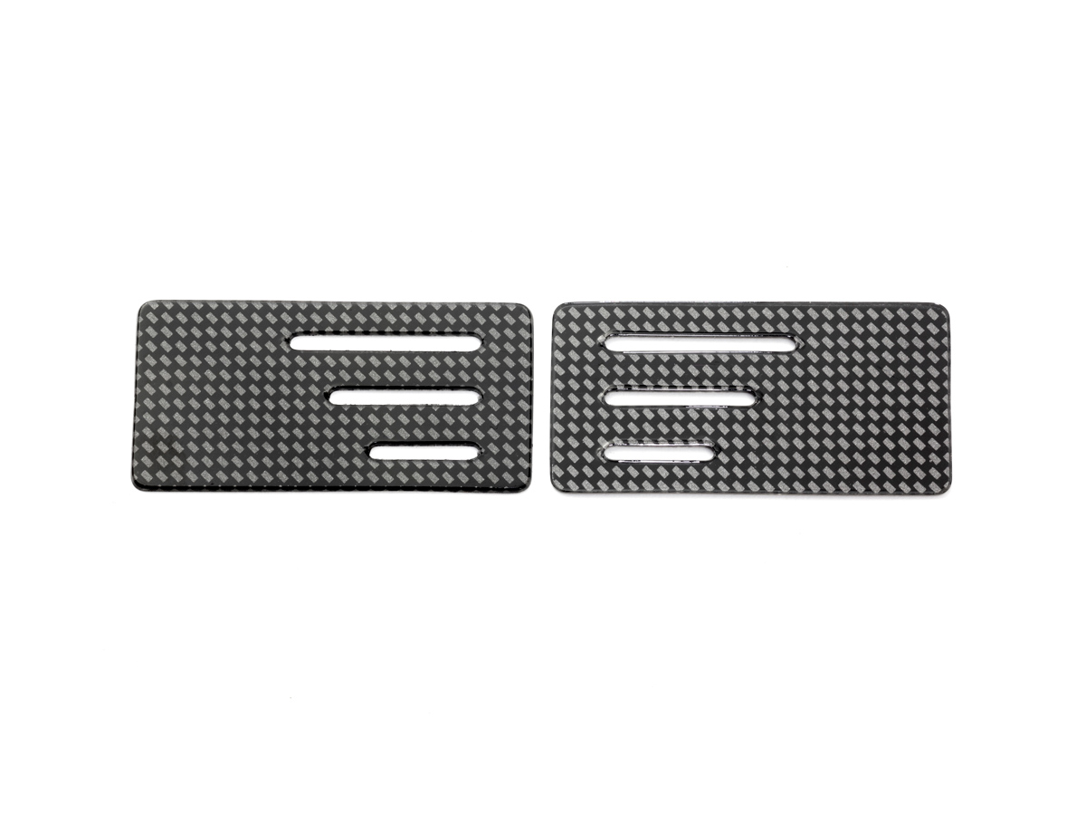 [SMJ1325] WING ENDPLATE with SLIT for 1/10 TC (Carbon pattern/0.8mm/2pcs)