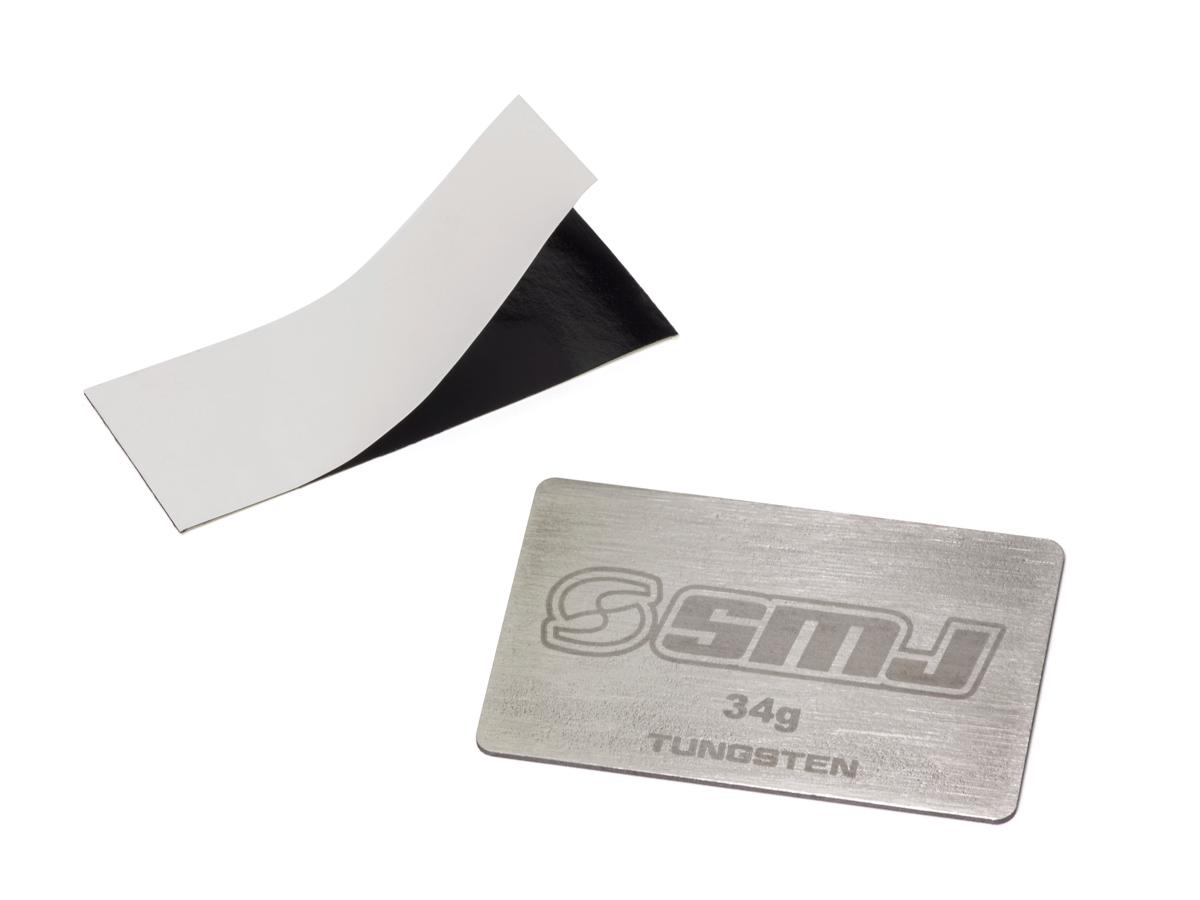 [SMJ3520] THIN TYPE TUNGSTEN WEIGHT PLATE 34g (53x33x1.0mm, +/-1g)