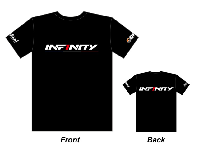 [A0053-3XL] INFINITY 2017 Team T-shirt (BK/Tricolor) 3XL size