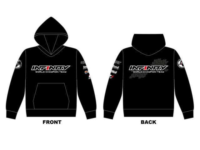 [A0055-S] INFINITY 2018 Team Hoodie (BK) S size
