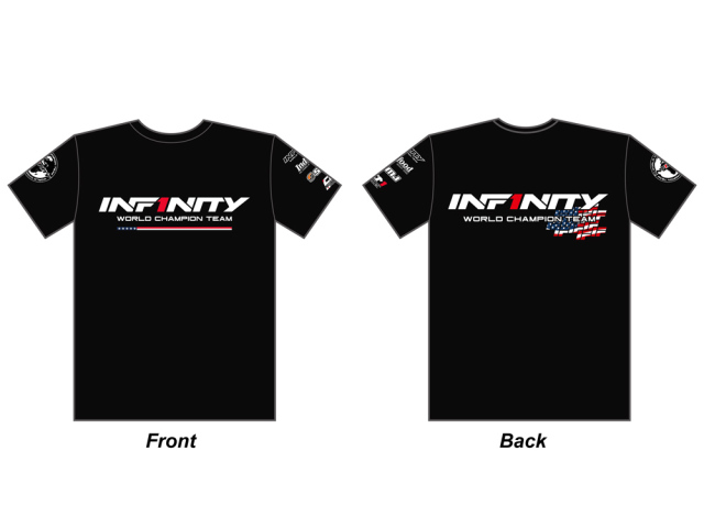 """[A0059-L] INFINITY 2018 Team """"U.S.A."""" T-shirt (BK) L size"""